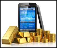 Acheter de l'or avec un smartphone sur Internet